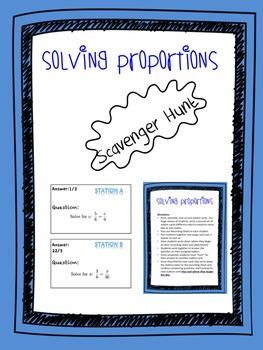 Solving Proportions (Scavenger Hunt)