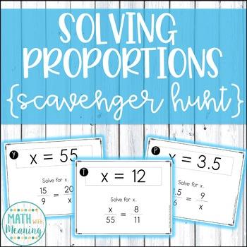 Solving Proportions Scavenger Hunt Activity