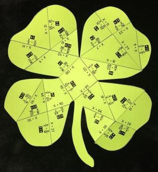 Solving Proportions (Shamrock- Shaped PUZZLE/ St. Patrick's Day Activity)