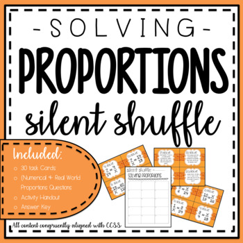 Solving Proportions {Silent Shuffle}