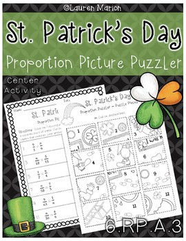 Solving Proportions - St. Patrick's Day Picture Puzzler