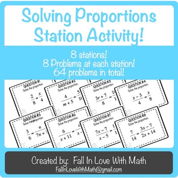 Solving Proportions Station Activity!