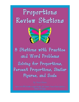 Solving Proportions Stations - Math Centers