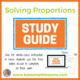 Solving Proportions Study Guide