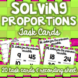 Solving Proportions Task Cards