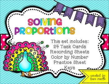 Solving Proportions {Task Cards and Coloring Page}