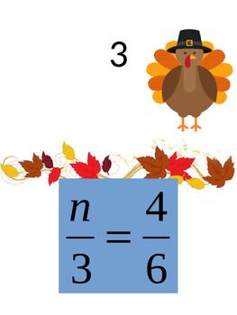 Solving Proportions Thanksgiving Scavenger Hunt