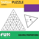 Solving Proportions Triangle Puzzle