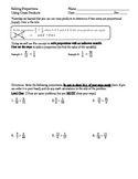 Solving Proportions Using Cross Products; Differentiated Levels of Problems