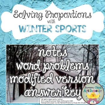 Solving Proportions:  Winter Sports Edition!