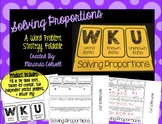 Solving Proportions-Word Problems Foldable WKU