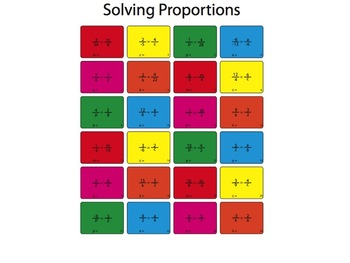 Solving Proportions Worksheet (Color)