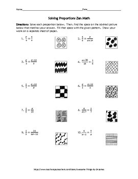 Solving Proportions Zen Math