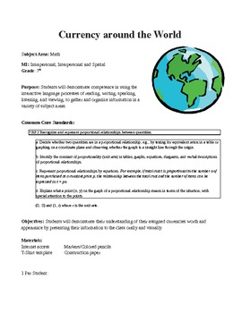 Solving Proportions and Calculating Percents using World Currency - Economics