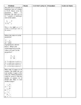 Solving Proportions using Problem Solving