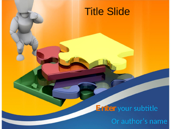 Solving Puzzle PPT Template