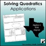 Writing Equations of Quadratics plus Applications (A7B)