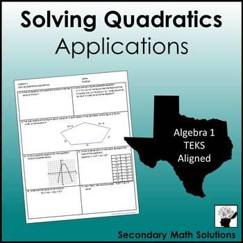 Solving Quadratics Applications