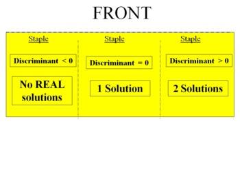 Solving Quadratic Equations 3 Ways Foldable