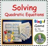 Solving Quadratic Equations BINGO game