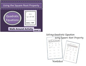 Solving Quadratic Equations Bundle~Completing the Square~Calculator