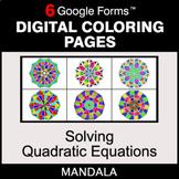 Solving Quadratic Equations - Digital Mandala Coloring Pag