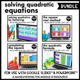 Solving Quadratic Equations Digital Math Activity Bundle |