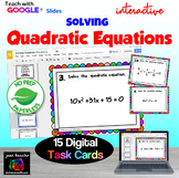 Solving Quadratic Equations Digital Task Cards and Matching with GOOGLE Slides™