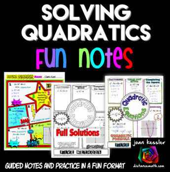 Solving Quadratic Equations Doodle Notes