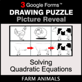Solving Quadratic Equations - Drawing Puzzle   Google Forms
