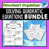 Solving Quadratic Equations *Flowchart* Graphic Organizers BUNDLE