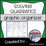 Solving Quadratic Equations (Graphic Organizer)