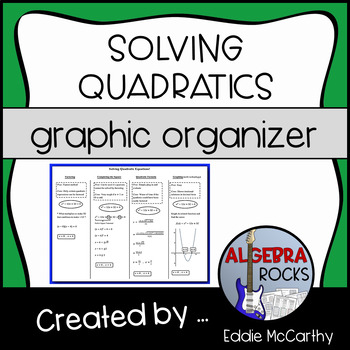 Solving Quadratic Equations (Graphic Organizer)