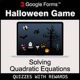 Solving Quadratic Equations   Halloween Decoration Game  