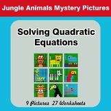 Solving Quadratic Equations - Jungle Animals Math Mystery