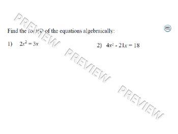 Solving Quadratic Equations Lesson 2 of 3