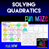 Solving Quadratic Equations Maze plus HW