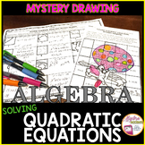Solving Quadratic Equations Mystery Drawing