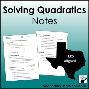Solving Quadratics Notes (A8A)