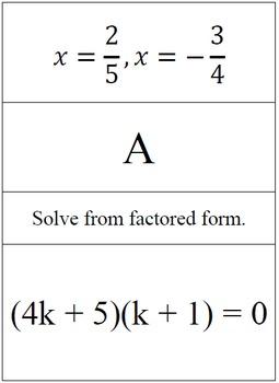 Solving Quadratic Equations - Problem Trail
