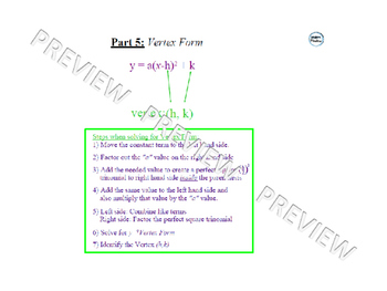 Solving Quadratic Equations Review Lesson 3 of 4