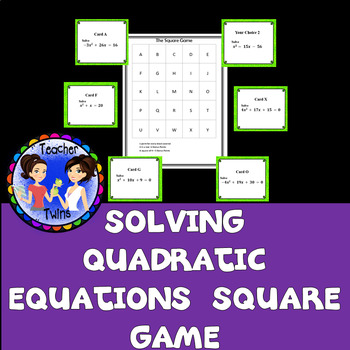 Solving Quadratic Equations Square Game