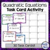 Quadratic Equations - Task Card Activity