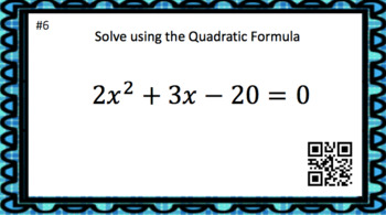 Solving Quadratic Equations Task Card Bundle (150 Cards & Interactive Videos!)