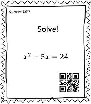 Solving Quadratic Equations Task Card Bundle (150 Cards & Interactive Videos!)