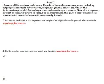 Solving Quadratic Equations Test