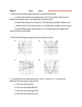 Solving Quadratic Equations Unit - Free Sample