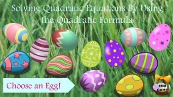Solving Quadratic Equations - Using Quadratic Formula - PowerPoint Game