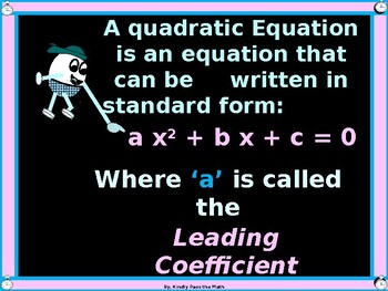 Solving Quadratic Equations Using Square Roots with GUIDED NOTES