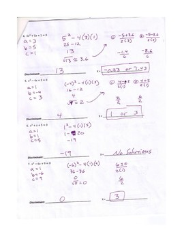 Answer Key Solving Quadratic Equations By Factoring ...